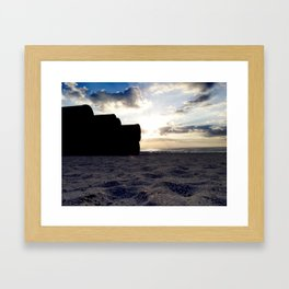 Beach Intruders Framed Art Print