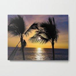 Kona Palms Metal Print