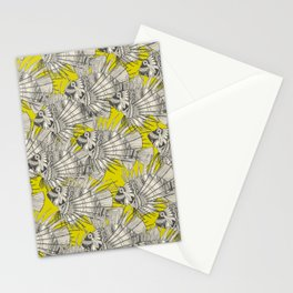 fish mirage chartreuse Stationery Cards