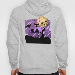 Scary Witch Cat Hoody