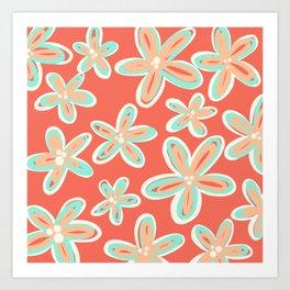 Tropical Flower Power Art Print