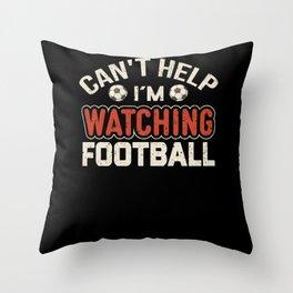 Watch Football Sport Field Shirt Design Throw Pillow