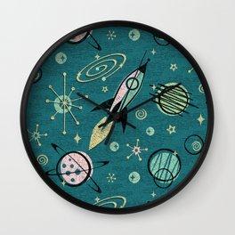Atomic Space Age ©studioxtine Wall Clock
