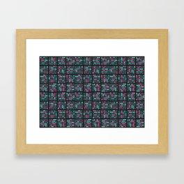 geometric colorful3 Framed Art Print