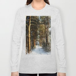 Forest Snow Scene Long Sleeve T-shirt