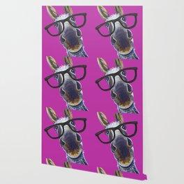 Up Close Donkey Art, Donkey with Glasses Art Wallpaper