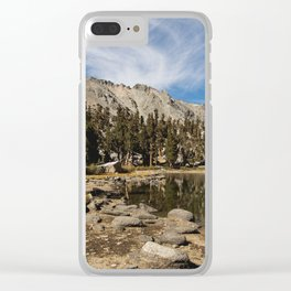 Heart Lake Clear iPhone Case