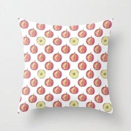 Apple mood Throw Pillow