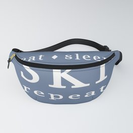 Eat Sleep SKI repeat Fanny Pack