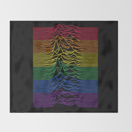 Joy Division - Unknown Rainbow Pleasures Throw Blanket