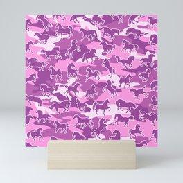 Horse Camo PINK Mini Art Print