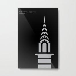 New York Skyline: Chrysler Building Metal Print