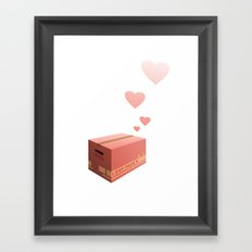 Love Box Framed Art Print