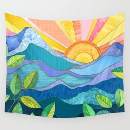 Sunset Through The Leaves Wall Tapestry