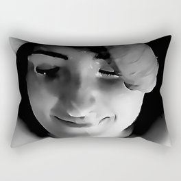 NSFW! Adult content! Cartoon sex play, cummy face, happy face #2 Rectangular Pillow