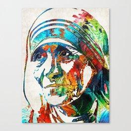 Mother Teresa Tribute by Sharon Cummings Canvas Print