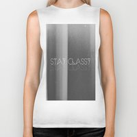 classy Biker Tanks featuring Stay Classy by Jane Lacey Smith