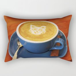 Coffee and Cats-A cat face in a coffee design Rectangular Pillow