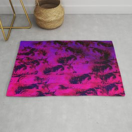 Traffic of cow Rug