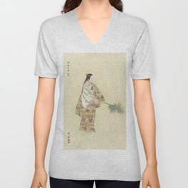 Japanese Art, 1920s Unisex V-Neck