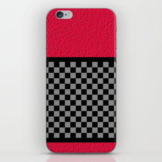 Checkered/Textured Red iPhone & iPod Skin