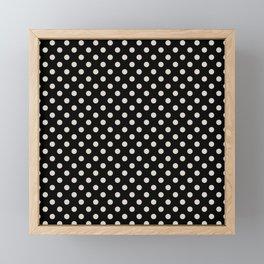 Black polka dots pattern Framed Mini Art Print