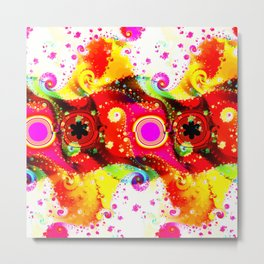 Fractal Summercolours And Happiness Metal Print