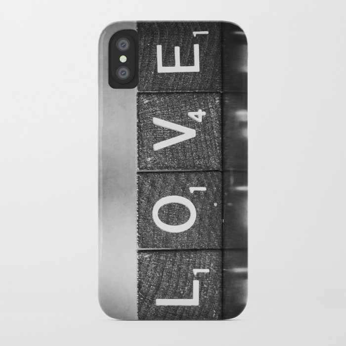 Love is a Beautiful Word - a fine art photograph iPhone Case