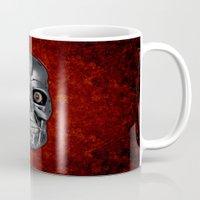 terminator Mugs featuring Terminator Monochrome by Leslie Philipp