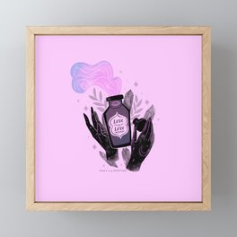 """""""Love is Love Potion"""" inspired by The L Word Framed Mini Art Print"""