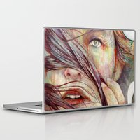 hair Laptop & iPad Skins featuring Opal by Michael Shapcott