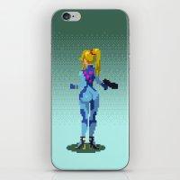 samus iPhone & iPod Skins featuring Samus by ansimuz