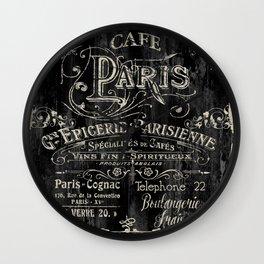Paris Bistro VI Wall Clock