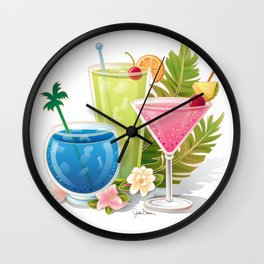 Tropical Drinks#1 Wall Clock