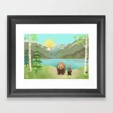 one cub Framed Art Print
