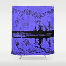 Knik River Mts. Pop Art - 1 Shower Curtain