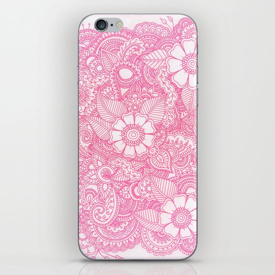 Henna Design - Pink iPhone & iPod Skin