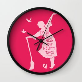 A Dream is a Wish Your Heart Makes - Cinderella Wall Clock