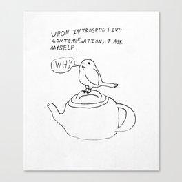 Introspective Bird Canvas Print