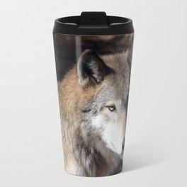 The Eyes of a Wolf Travel Mug