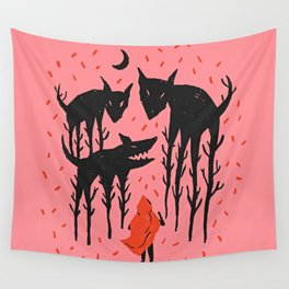 She persists - Wood Cut Art Work Wall Tapestry