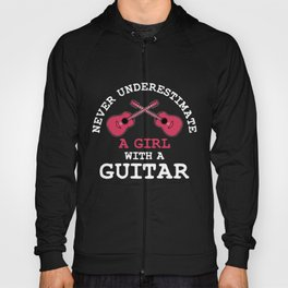 Guitar Player Girls Hoody