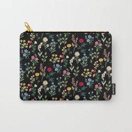Spring Botanicals Black Carry-All Pouch