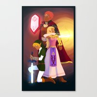 triforce Canvas Prints featuring Triforce by Puck