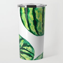 3 watermelon watercolor Travel Mug