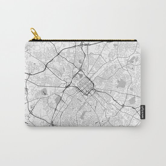 Charlotte Map Gray Carry-All Pouch