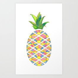 Pineapple Sunrise Art Print