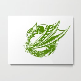 Green Nargacuga Sigil Metal Print