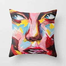 Impertinent II by carographic Throw Pillow