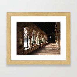 Cloisters corridor Framed Art Print